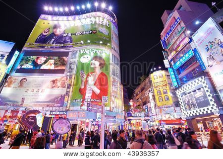 TAIPEI, TAIWAN - JANUARY 19: Ximending District January 19, 2013 in Taipei, TW. Originally developed during Japanese colonial rule, the district is now the source of Taiwan's fashion subculture.
