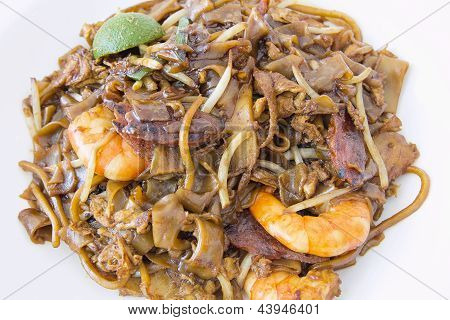 Singapore Char Kway Teow Closeup