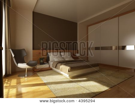 Bedroom In Brown Colour
