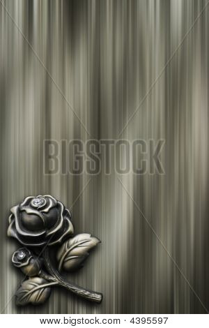 Background With Bronze Rose