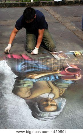 Sidewalk Chalk Artist