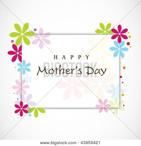 Floral decorated background for Happy Mothers Day.