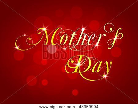 Happy Mothers Day concept on red background.