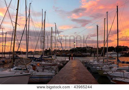 Marina In Desenzano Del Garda Sunrise