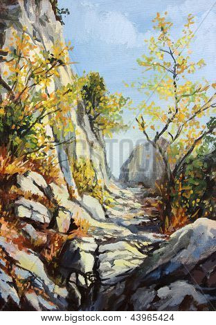 Marble Path in the Autumn