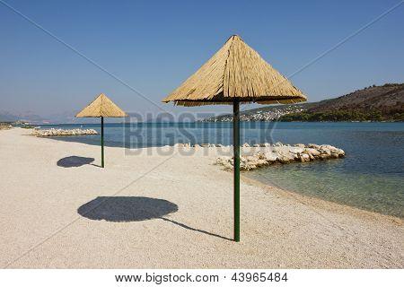 Beautiful Remote Beach Near Trogir In Croatia