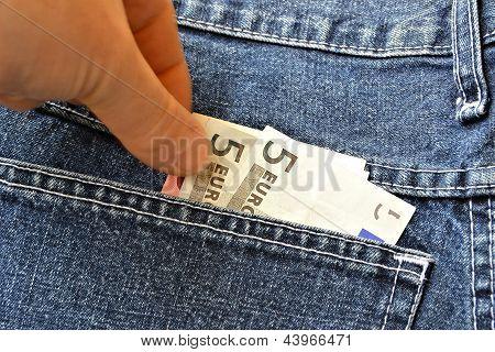 Theft of money