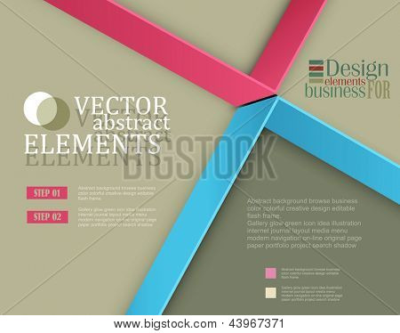 Modern vector banner (Items for Web / Business Design)