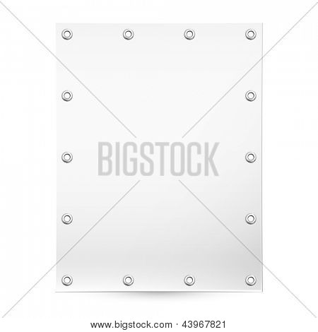 Empty white banner for posting information. Vector background for design and advertising