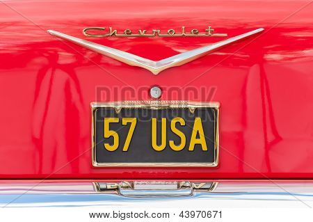 Chevrolet Licence Plate