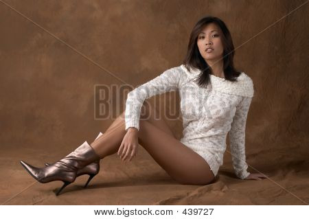 Asian Woman With Sweater