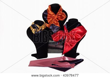 Silk Bilateral Scarfs Of Different Styles