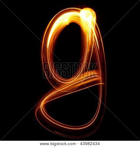 G - Created by light lowercase letters