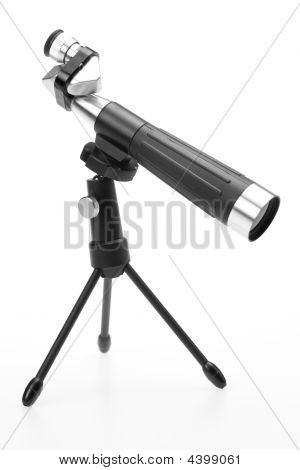 Microscope Over White