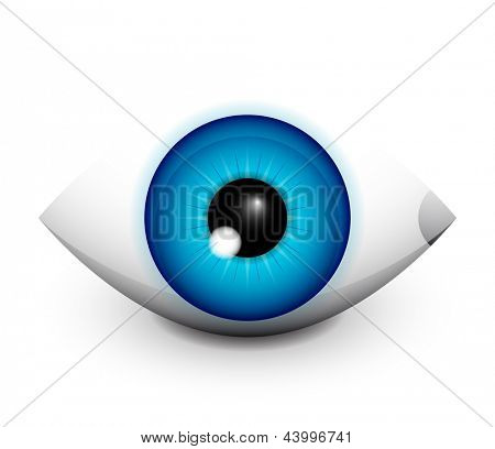 Hi-tech eye concept icon design