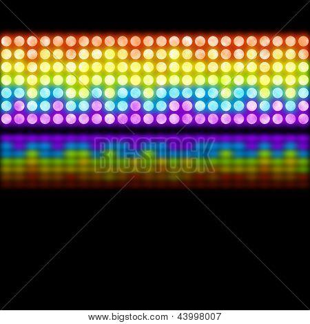 Rainbow disco background