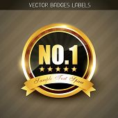 best quality no. 1 golden product promotion vector label poster