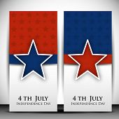 4th of July Happy Independence Day banners. poster