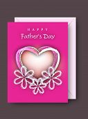 Greeting or gift card for Fathers Day celebration. poster