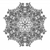 Ornamental round lace. This is file of EPS8 format. poster