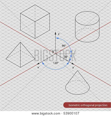 isometric projection grid