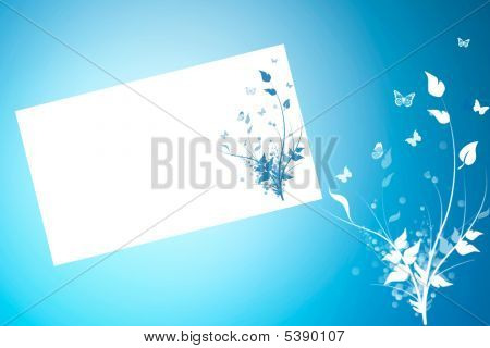 Postcard  Floral Background