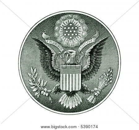 Great Seal Of The United States With Clipping Path