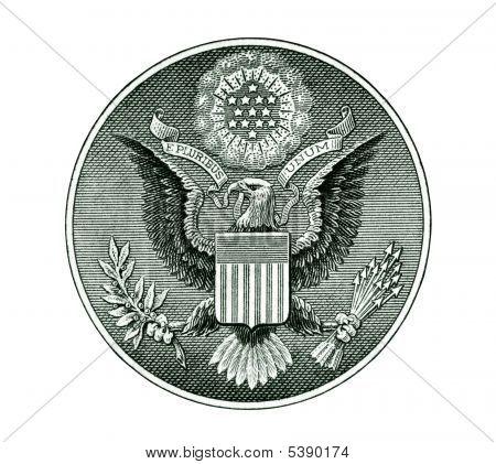 Siegel der Vereinigten Staaten mit Clipping Path