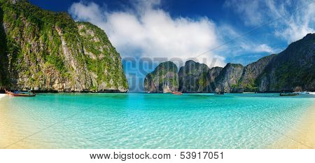 Tropical beach, Maya Bay, Andaman Sea,Thailand