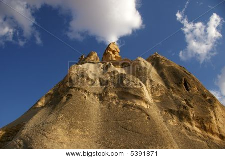 Limestone and Clouds Cappadocia Turkey