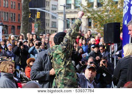 Man heckles Mayor Bloomberg