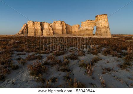 Monument Rock At Dusk