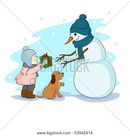 Gift For Snowman