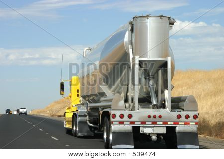 Tanker Truck On The Road