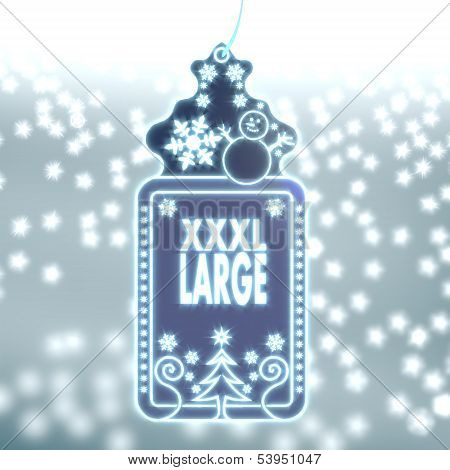 Magic Christmas Label With Xl Sign