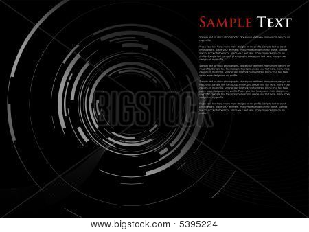 a vector abstract camera lens zooming in poster