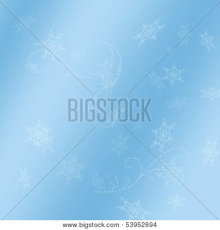 Blue Background with Snow