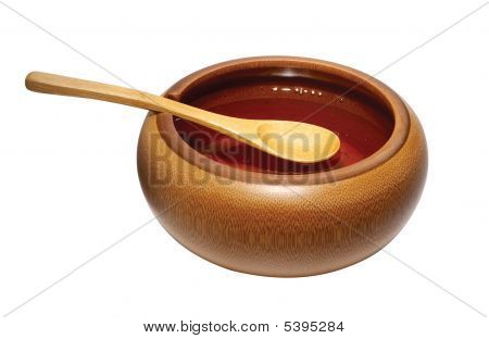 Wax, Wooden Bowl And Spoon
