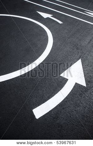 Road markings pictures