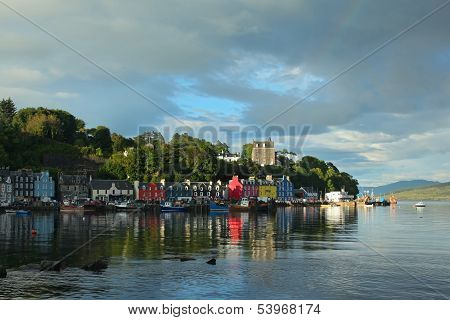 Uk Western Scotland Isle Of Mull Colorful Town Of Tobermory - Capital Of Mull, Landscape