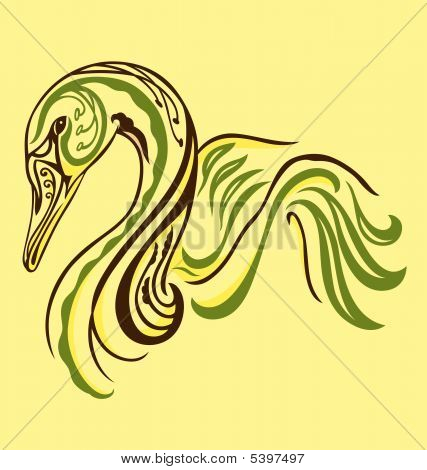 Elegant Tattoo Swan