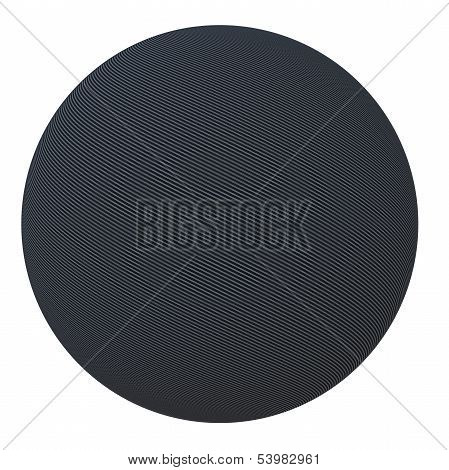 Ball of carbon fiber. Isolated render on a white background poster