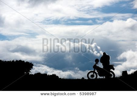 Men And Motorcycle