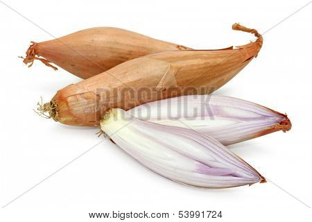 shallot isolated on white background