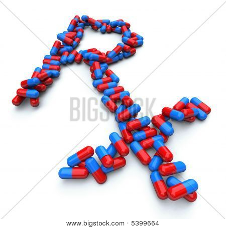 Rx - Pharmacy Symbol - Capsule Pills