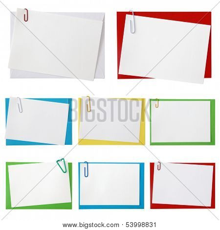 Paper envelopes with blank note on white