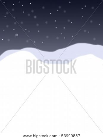 A Snowy Background