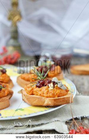 Bruschetta With Pampkin
