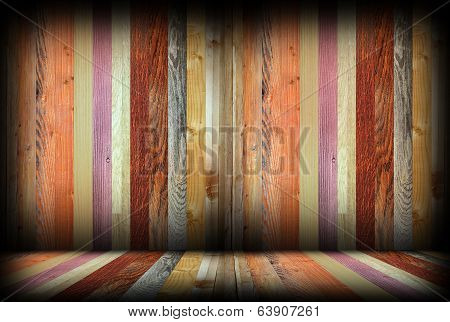 colorful wooden interior room backdrop empty architectural space for your design poster