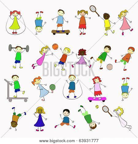 happy boys and ggrls,  sport